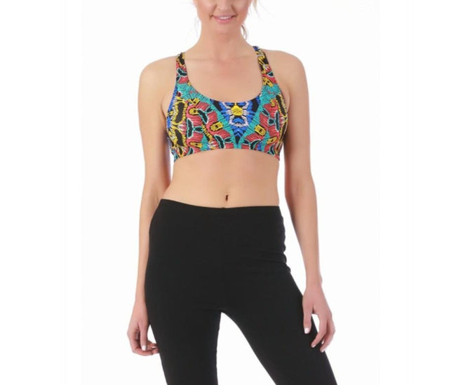 LaMonir printed racer back crop top 145019