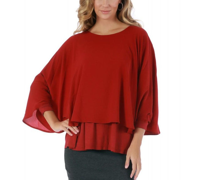 LaMonir Poncho Top with Boatneck 153661