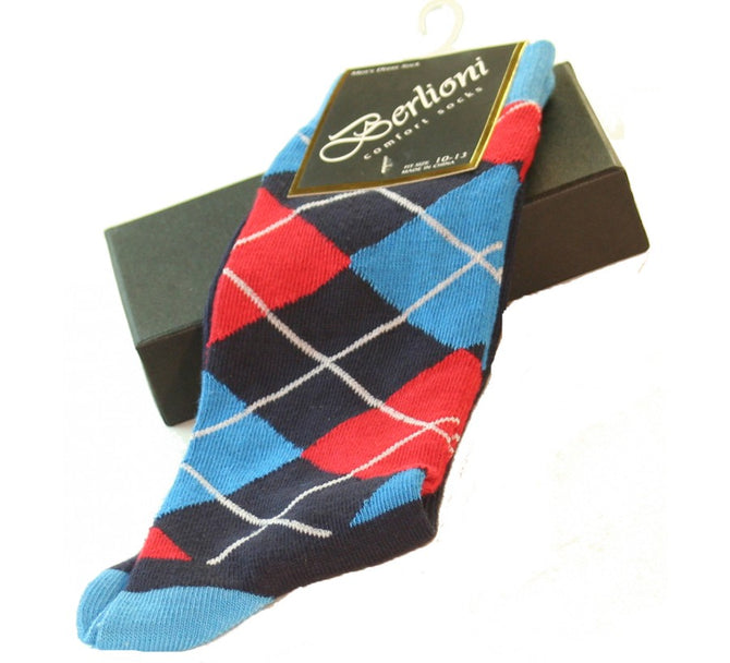 Berlioni Argyle Dress Socks 155301