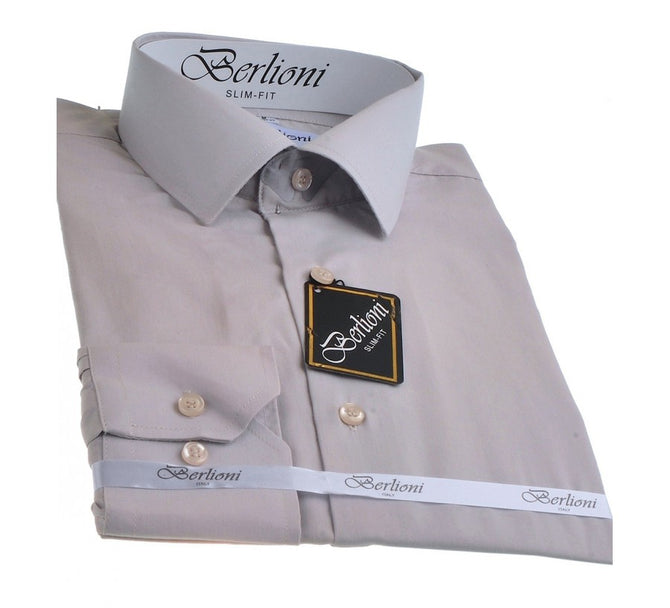 Berlioni Slim Fit Solid Shirt 155304