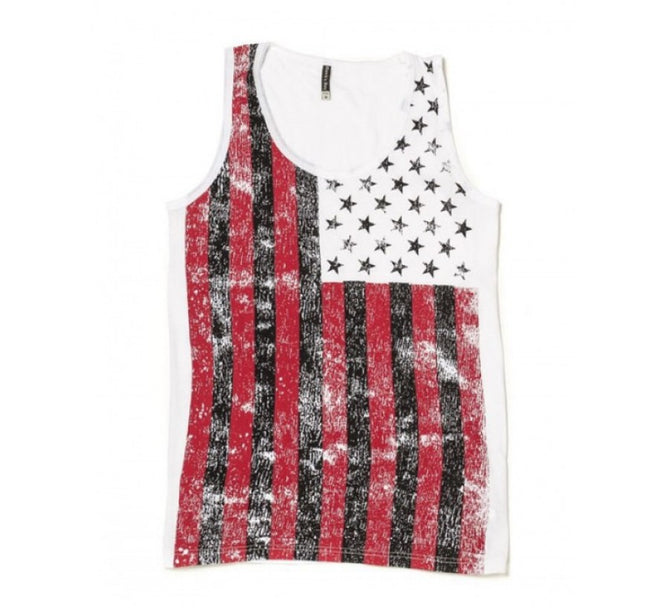 US Flag Distressed Tank T-shirt 155512