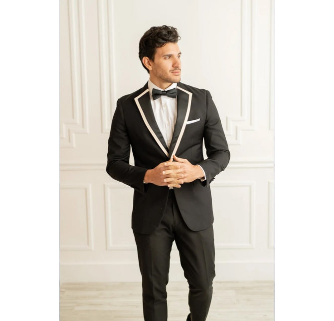 Satin Notch Lapel/W Trim 155SNST2