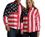 American flag shirt with long sleeves 167201