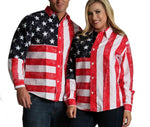 LaMonir American flag shirt with long sleeves 167201