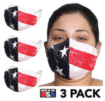 3-Pack Reusable 2-Layer Cotton Face Mask - 167M2183