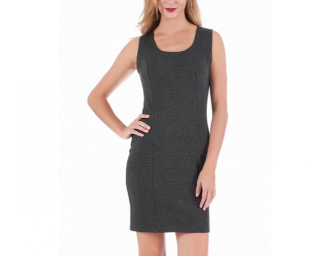 LaMonir Short Square-neck Sleeveless Panel Dress168033