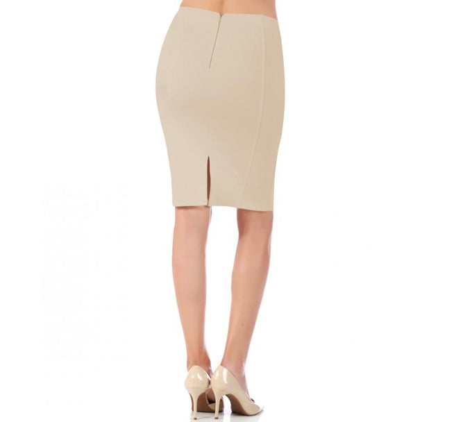LaMonir Short Pencil Skirt with Back Zip 16807M