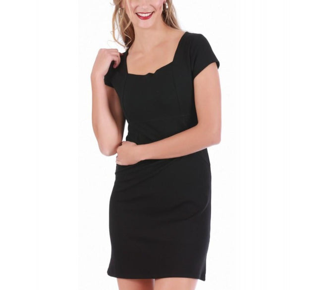 LaMonir Short Dress with Cap Sleeve 16821D