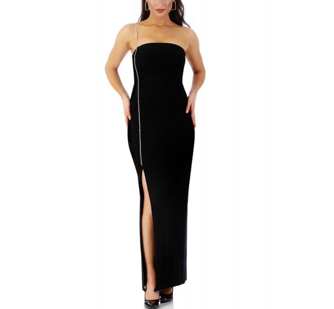 LaMonir Long dress W / Rhinestone strap 168250