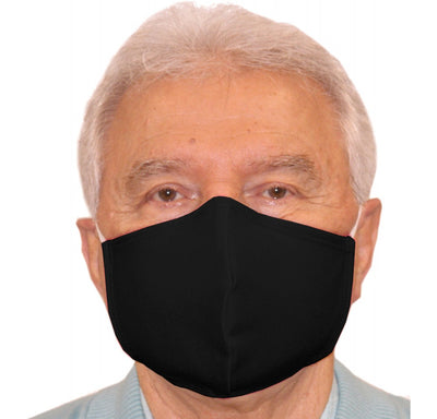 Reusable Fully Lined Cotton Black Face Mask - 168M2181