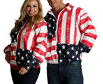 American flag zip-up jacket 175709