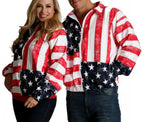 LaMonir American flag zip-up jacket 175709