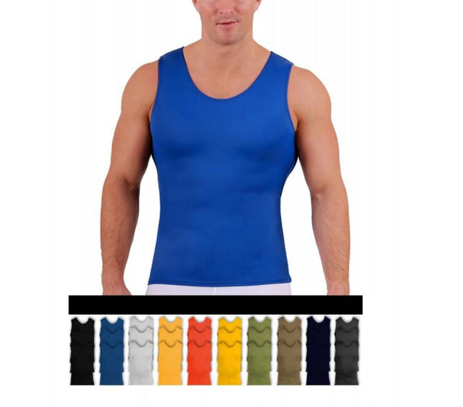 3-Pack I.S.PRO USA Big&Tall Medium Compression Athletic Performance Muscle Tank - 2MAT0013BT