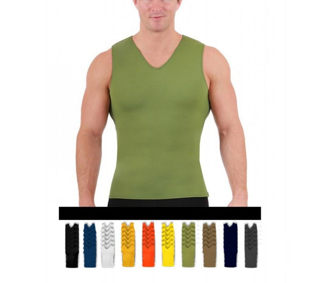 6 Pack I.S.PRO USA Compression Men's Sleeveless V-Neck Tank Top 2VAT0N16