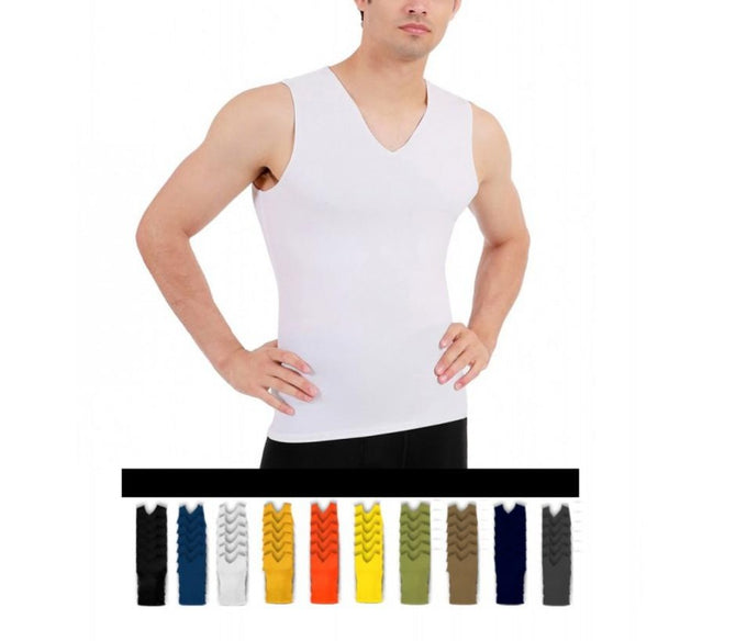 6 Pack I.S.PRO USA Big & Tall Compression Men's Sleeveless V-Neck Tank 2VAT0N16BT