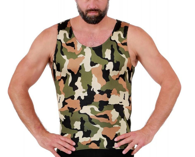 I.S.PRO USA Big & Tall Compression Athletic Performance Camouflage Muscle Tank - 3MAT001BT
