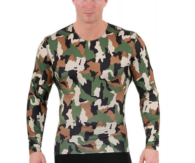 3-Pack I.S.PRO USA Long Sleeve Active Wear Medium Compression Crew Neck Camo - 3TLST013BT