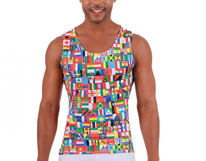 I.S.PRO USA International Flag Print Athletic Big & Tall Muscle Tank - 5MAT001BT