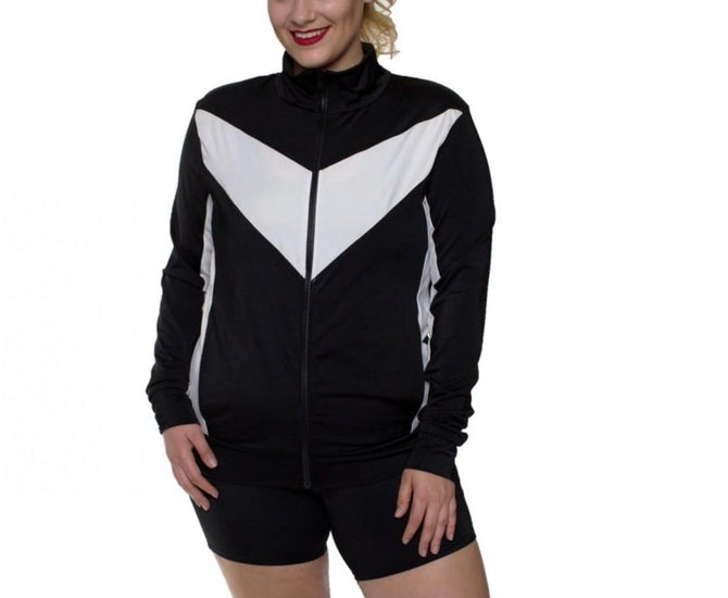 IF PRO Color Block Zip-Up Jacket-Curvy AWJ029C