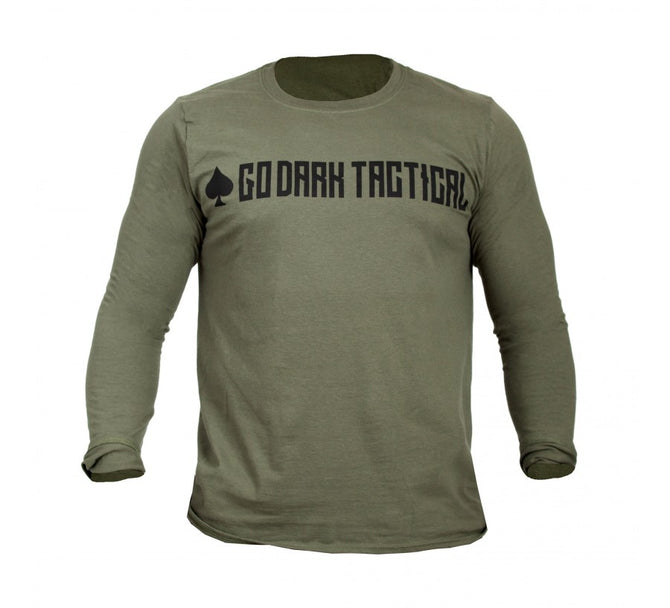 GO DARK TACTICAL LONG SLEEVE CREWNECK T-SHIRT - GD5660L1