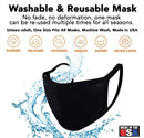 3PK Reusable Fully Lined Cotton Black Face Mask - 168M2183