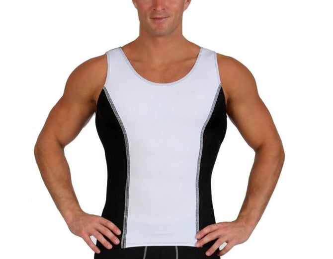 I.S.PRO USA Activewear Two Tone Muscle Tank With Two Thread Stitching MA00TT1