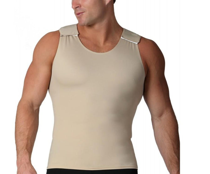 InstantRecoveryMD Men's Compression Muscle Tank w/Velcro Shoulders MS00V1