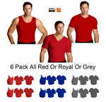 6-Piece I.S.PRO USA Big&Tall Activewear Variety Pack PKA006