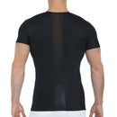 Mesh Panel Compression Shirt - TS2307