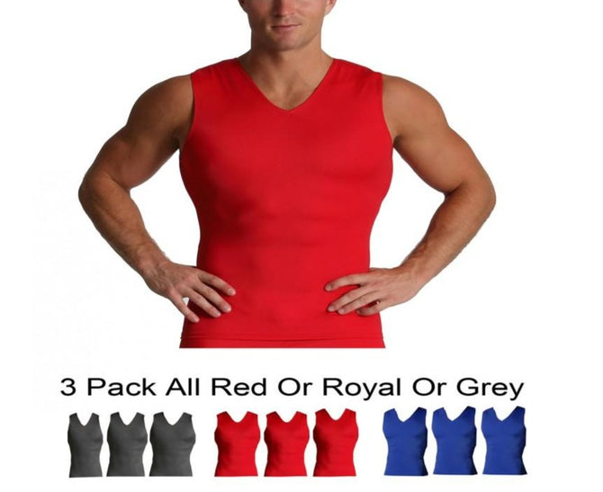 I.S.PRO USA 3 Pack Activewear Men's Sleeveless  V-Neck Tank VA00N3