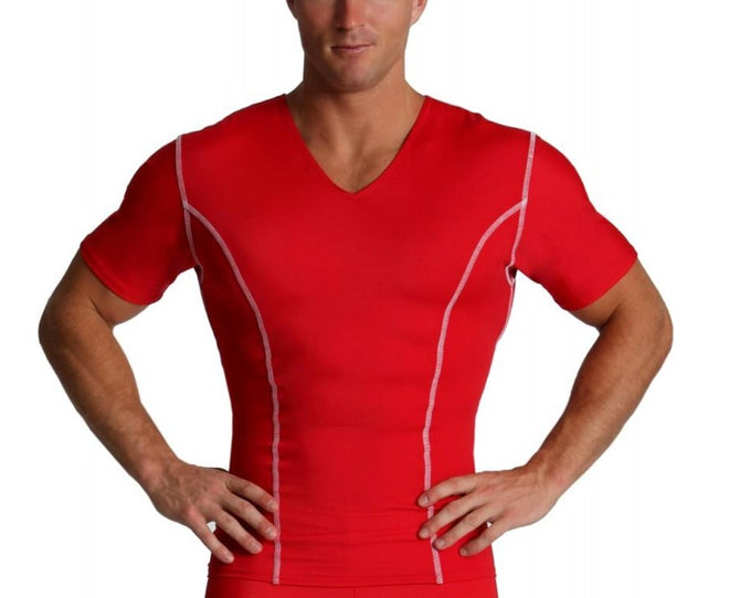 I.S.PRO USA Activewear Compression  V-neck W/Contrast Stitching VA0221