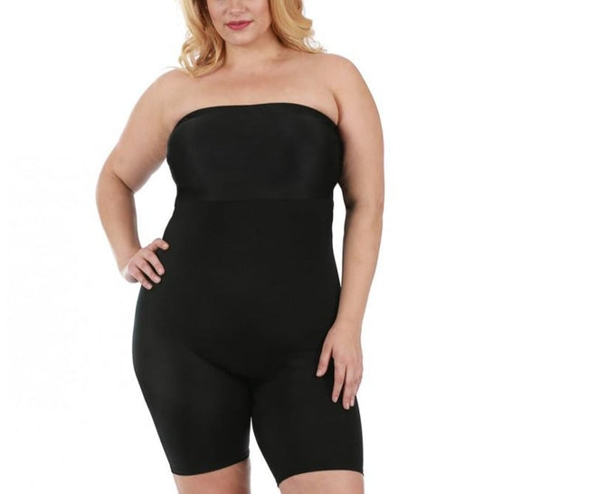 InstantFigure  Curvy Strapless Bandeau Shorts w/open gusset WBS011C