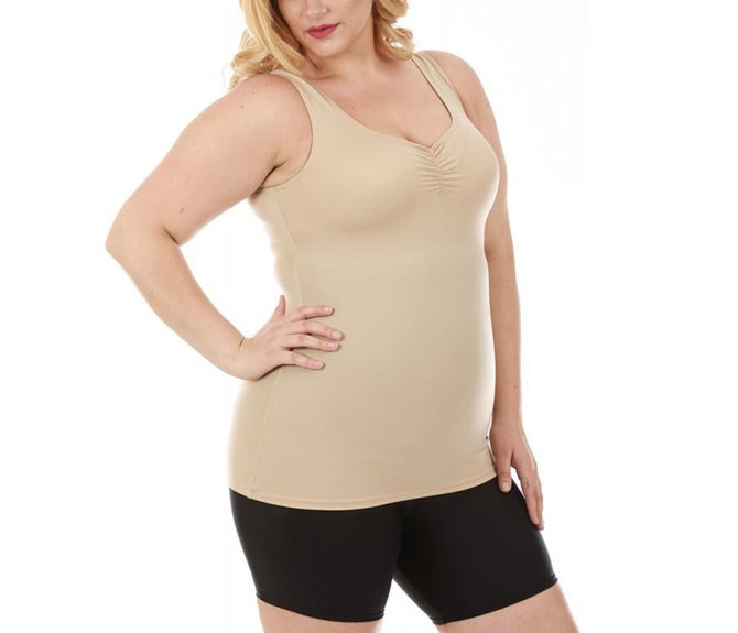 InstantFigure Shirred Tank Top Curvy Shapewear WT40011C