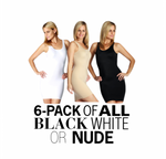 6-Pack Tank Slip Dress Shapewear WD40033