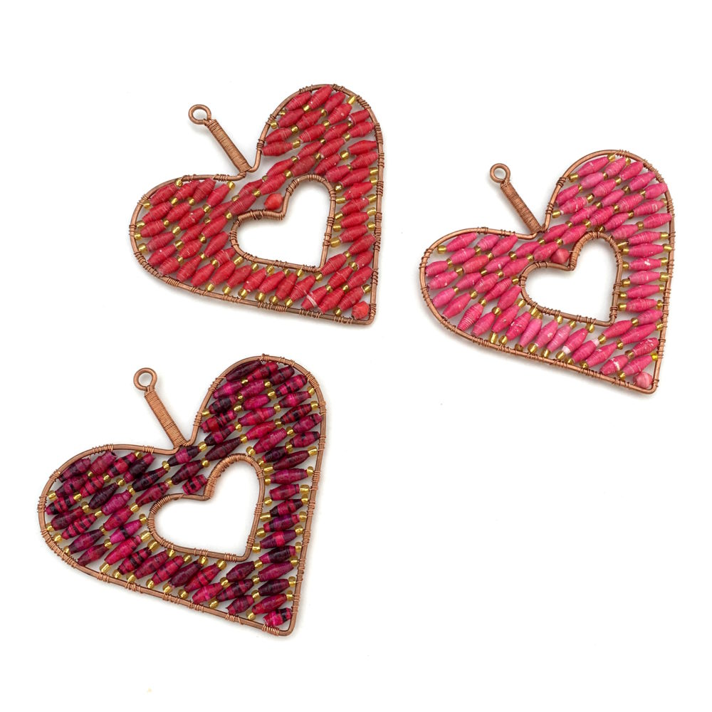 paper bead heart ornament ornaments 4 orphans love this paper