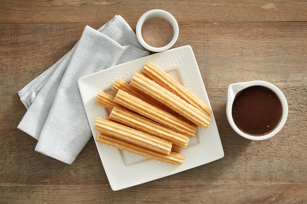 Cinnamon Sugar Churros with Chocolate Dip (Serves 5-6)