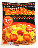 Instant Taco Rice Meat ~ Taco Meat and Hot Sauce ~ 3 Packs Each - Kenko Root
