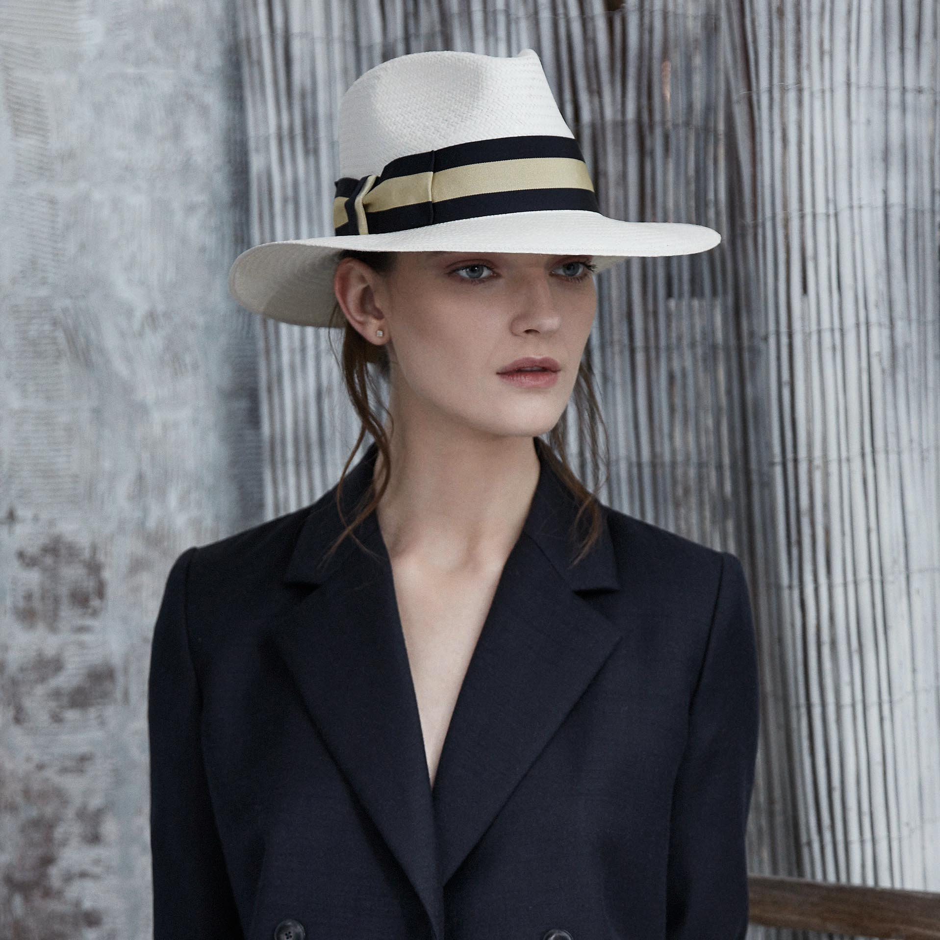 Peacehaven striped Panama - Women's hats - Lock & Co. Hatters London UK