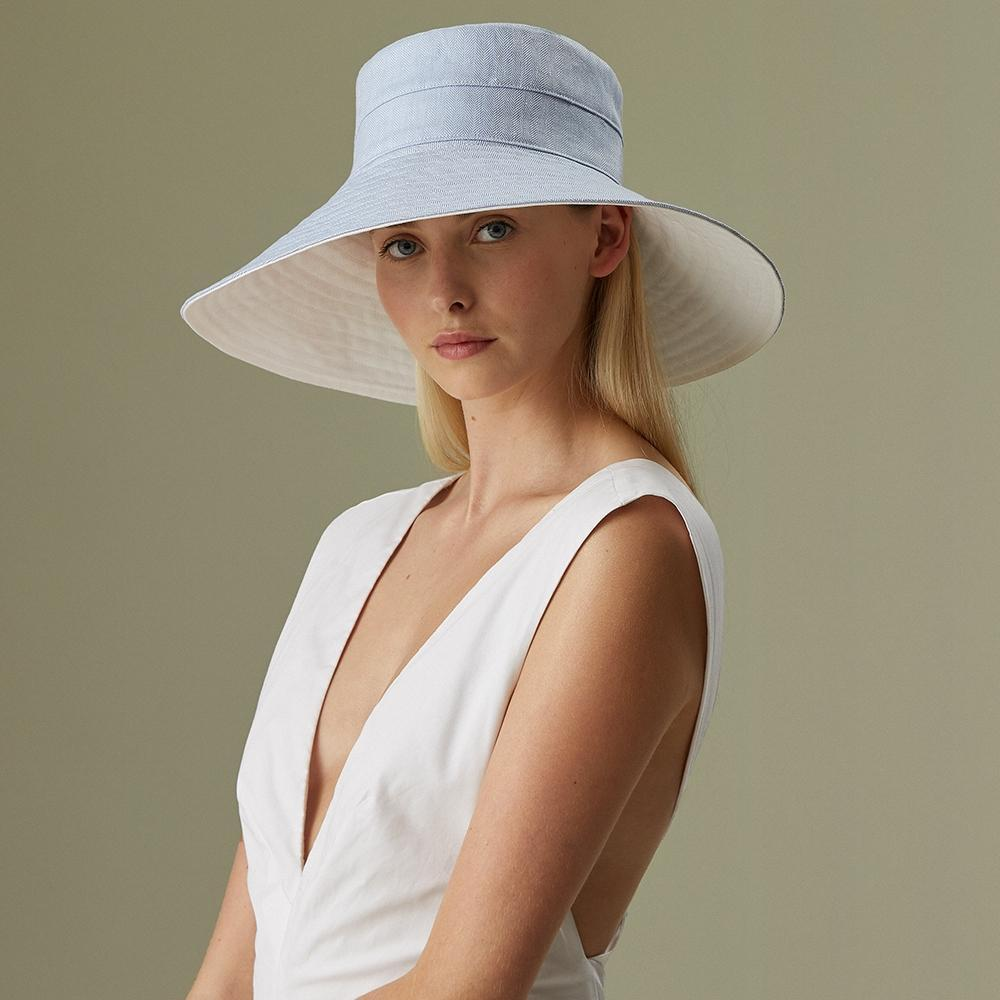 Monte-Carlo linen sun hat - Panamas, Straw and Sun Hats for Women - Lock & Co. Hatters London UK