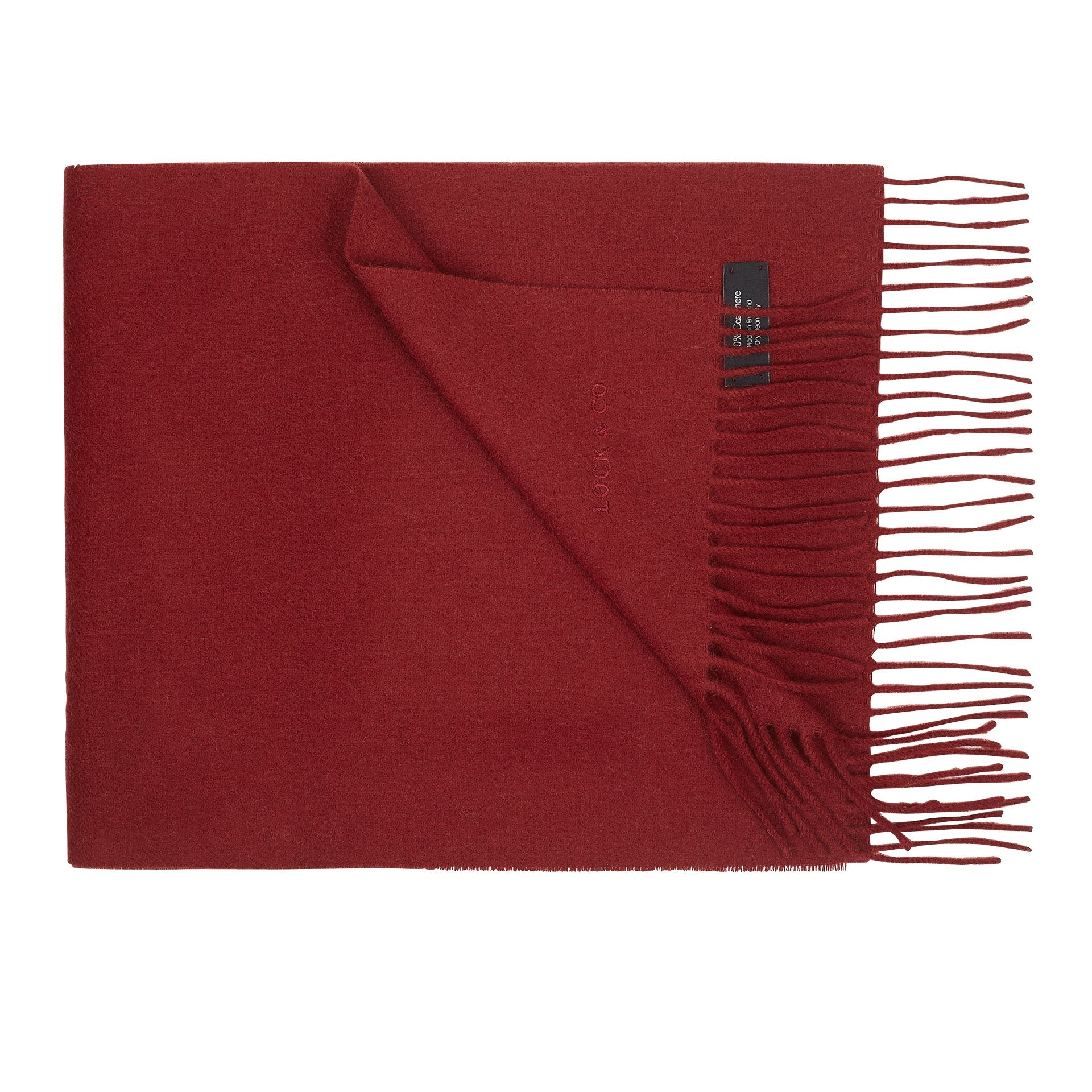 Plain cashmere scarf - Hat Accessories - Lock & Co. Hatters London UK