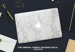 Marble Mac Cover Sticker - Marble MacBook Decals - 5