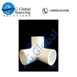 Pipe fitting - White pvc three way elbow 19mm