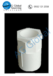 Pipe fitting, 20mm, white bulkhead fitting, slim type - cartimartonline.com