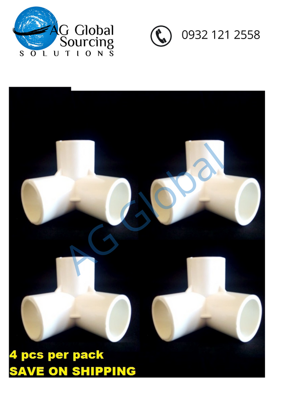 Three Way Elbow 3/4 Inch Size (4 pcs per pack) - cartimartonline.com