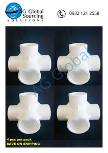 Four Way Elbow 1/2 Inch (4 pcs per pack) - cartimartonline.com