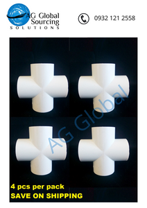 Four way Cross fitting 1/2 inch size (4pcs per pack) - cartimartonline.com