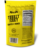Sharifa Halal Turkey Jerky Chopped & Formed, (3) 3.21 oz. Package – Great Everyday Halal Turkey Jerky  Snack, 100 % Real Zabiha Halal Turkey, 19g of Protein, 120 Calories, & 4g of Carbohydrates