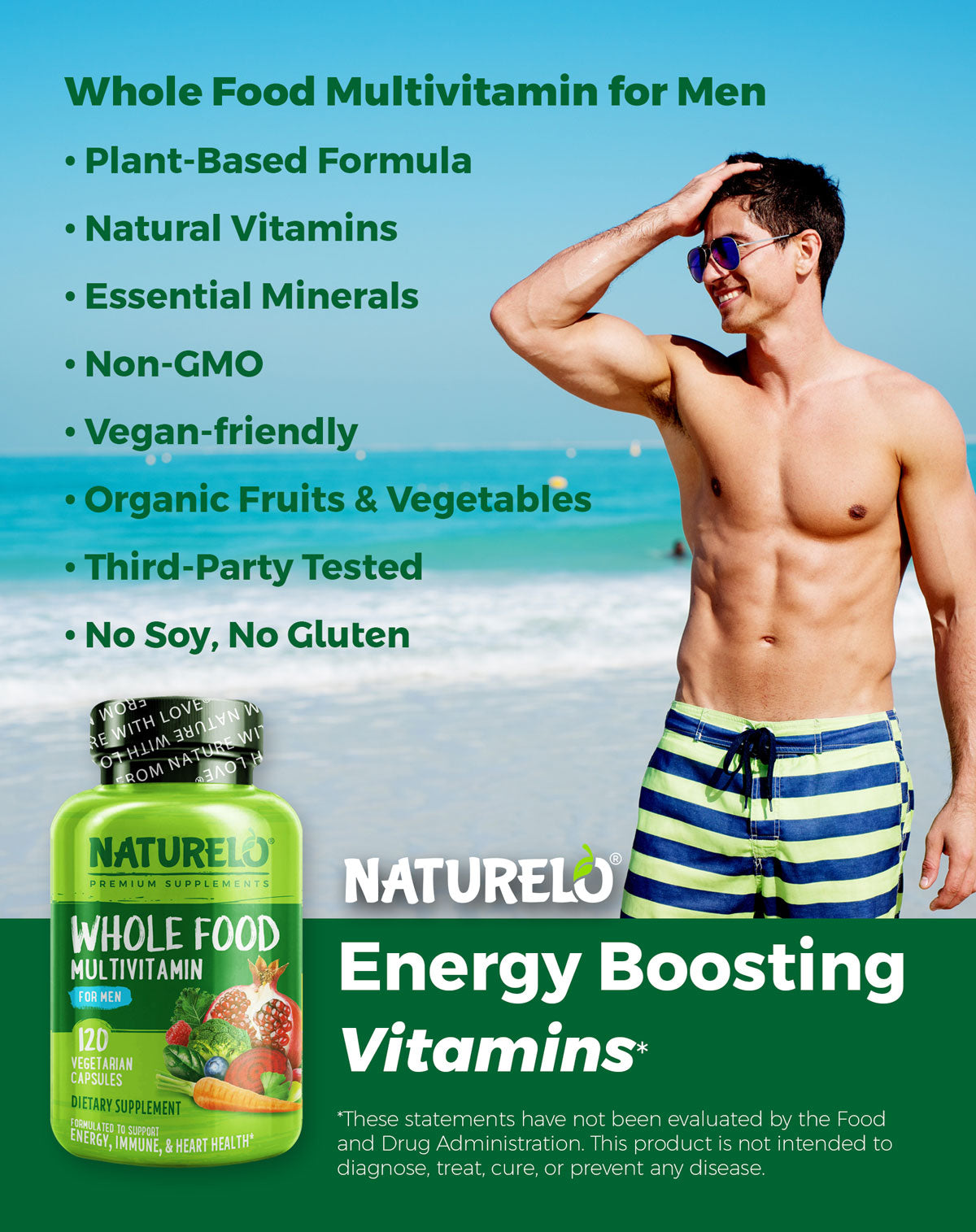 Whole Food Multivitamin for Men Features