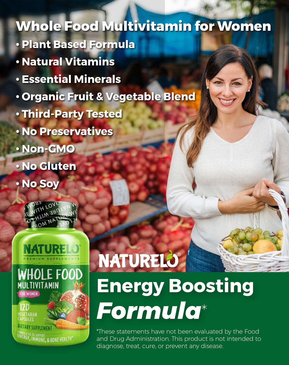 Whole Food Multivitamin for Women Features