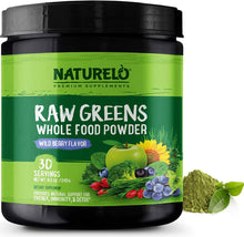 Load image into Gallery viewer, Raw Greens Powder - Wild Berry Flavor